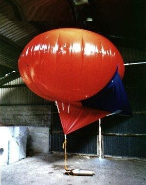 Inflated in barn